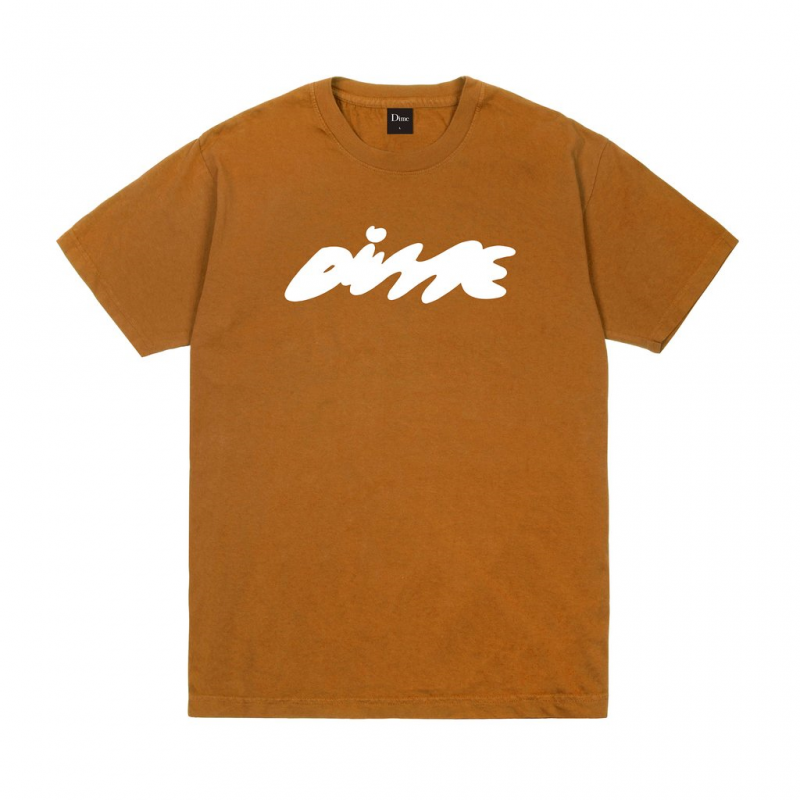 (Dime MTL) BUBBLY T-SHIRT - COFFEE