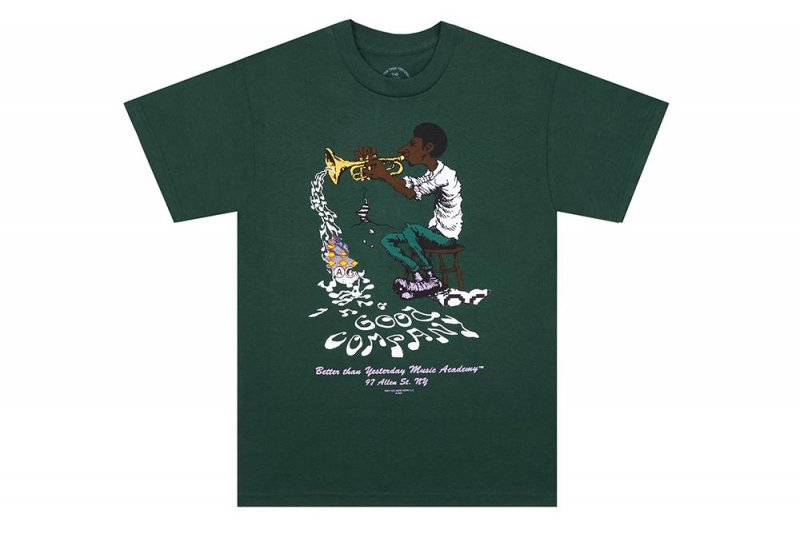 (The Good Company) Music Academy Tee - Forest Green