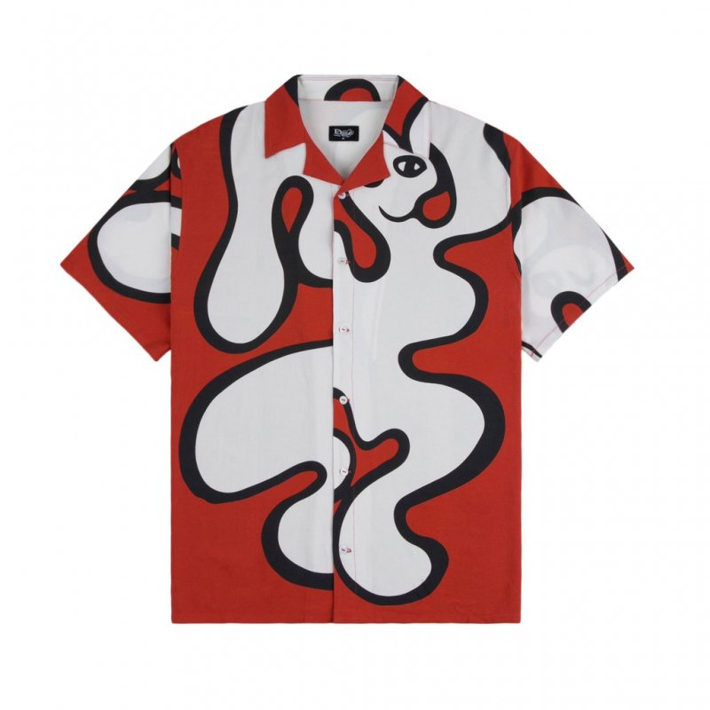 <img class='new_mark_img1' src='https://img.shop-pro.jp/img/new/icons5.gif' style='border:none;display:inline;margin:0px;padding:0px;width:auto;' />(Dime MTL) Chilling Rayon Shirt - Red