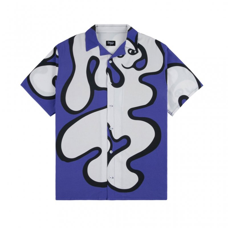 <img class='new_mark_img1' src='https://img.shop-pro.jp/img/new/icons5.gif' style='border:none;display:inline;margin:0px;padding:0px;width:auto;' />(Dime MTL) Chilling Rayon Shirt - Blue