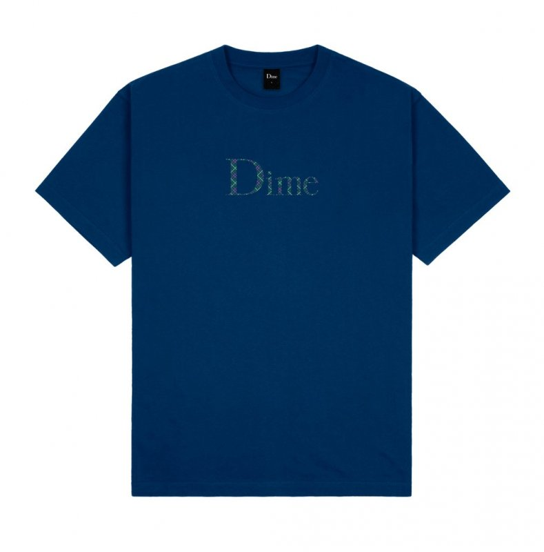 <img class='new_mark_img1' src='https://img.shop-pro.jp/img/new/icons5.gif' style='border:none;display:inline;margin:0px;padding:0px;width:auto;' />(Dime MTL) Dime Classic Plaid T-Shirt - Navy