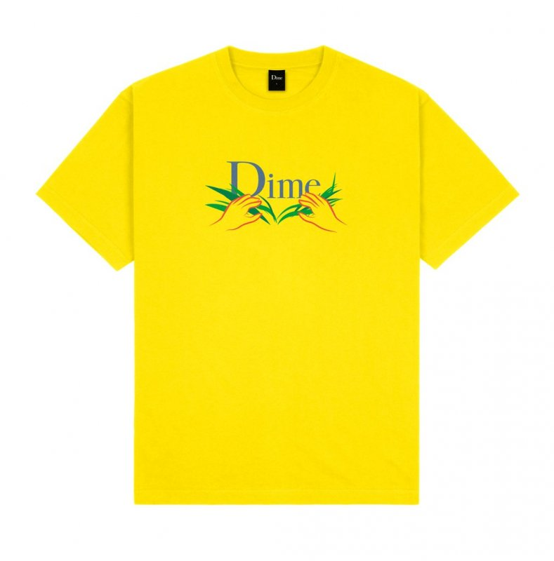<img class='new_mark_img1' src='https://img.shop-pro.jp/img/new/icons5.gif' style='border:none;display:inline;margin:0px;padding:0px;width:auto;' />(Dime MTL) Dime Classic Grass T-Shirt - Yellow