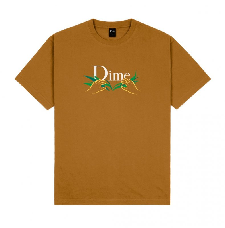<img class='new_mark_img1' src='https://img.shop-pro.jp/img/new/icons5.gif' style='border:none;display:inline;margin:0px;padding:0px;width:auto;' />(Dime MTL) Dime Classic Grass T-Shirt - Coffee