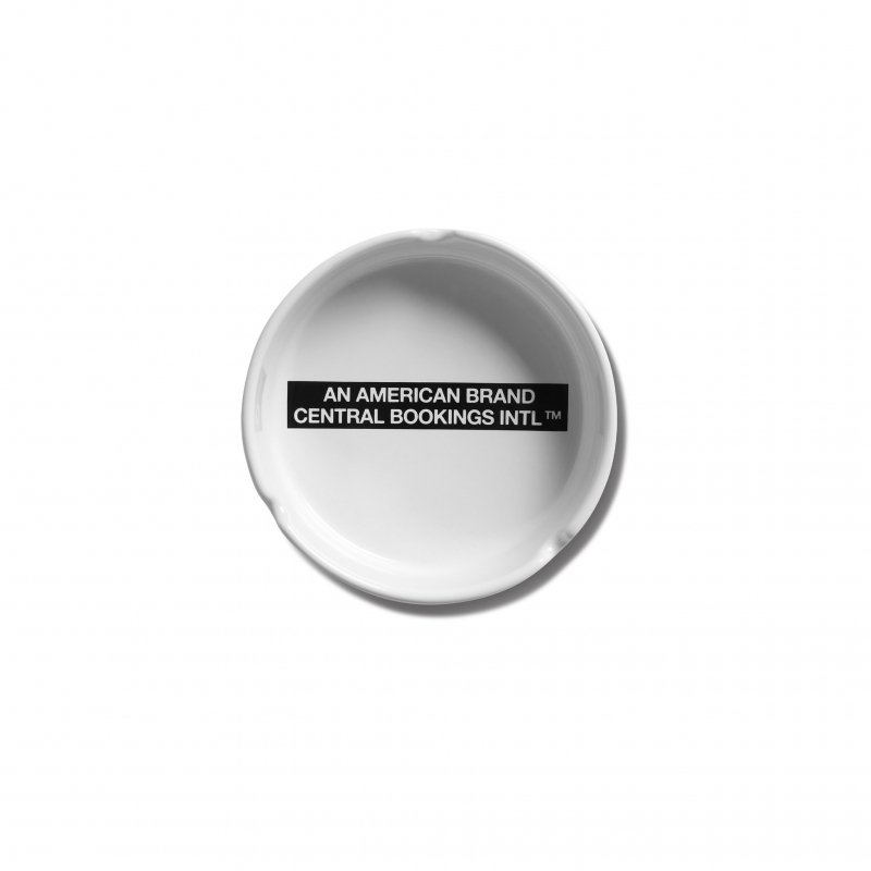 (CENTRAL BOOKINGS INTL) American Brand Ashtray - White