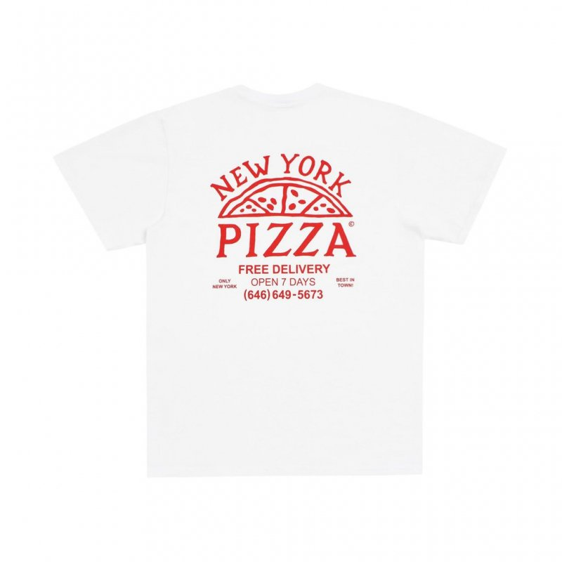 (Only NY) New York Pizza T-Shirt - White