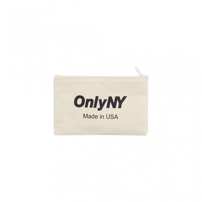 (Only NY) Logo Travel Pouch - Natural