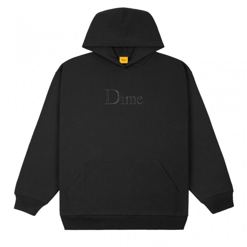 (Dime MTL) Dime Classic Embroidered Hoodie - Black