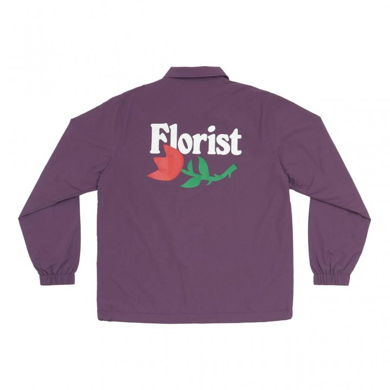 <img class='new_mark_img1' src='https://img.shop-pro.jp/img/new/icons5.gif' style='border:none;display:inline;margin:0px;padding:0px;width:auto;' />(Only NY) Florist Coaches Jacket - Dark Purple