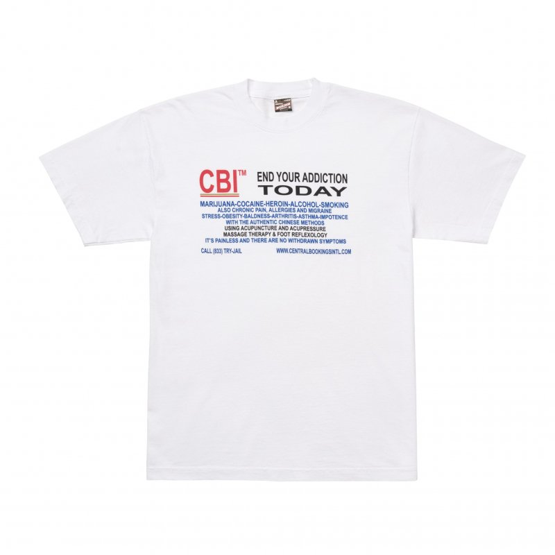(CENTRAL BOOKINGS INTL) Treatment Tee - White
