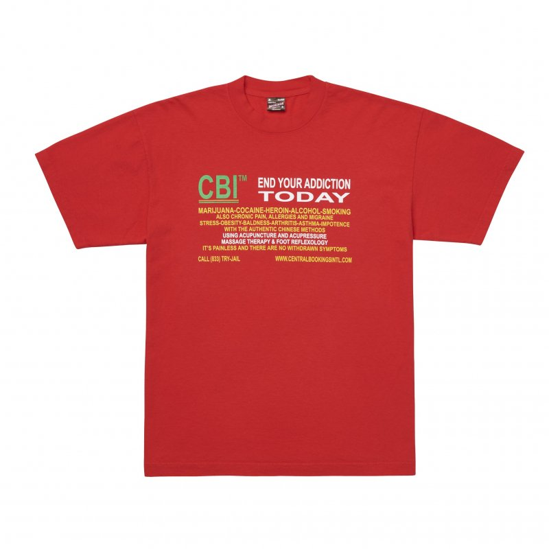 (CENTRAL BOOKINGS INTL) Treatment Tee - Red
