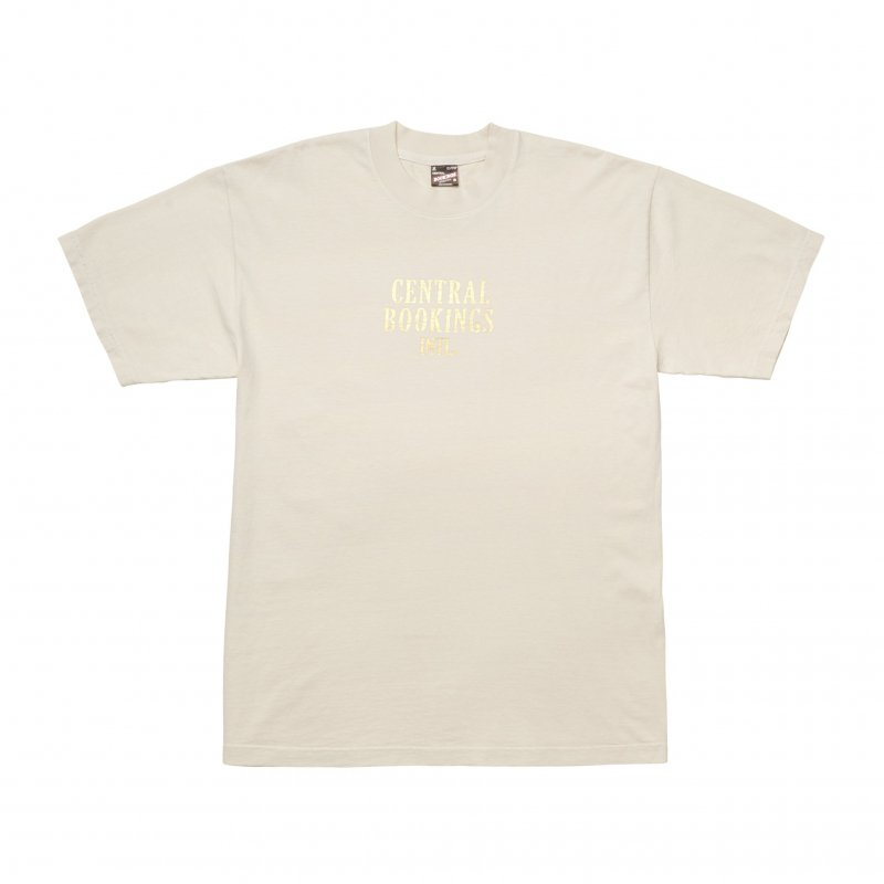 (CENTRAL BOOKINGS INTL) Courthouse Logo Foiley Tee - Cream