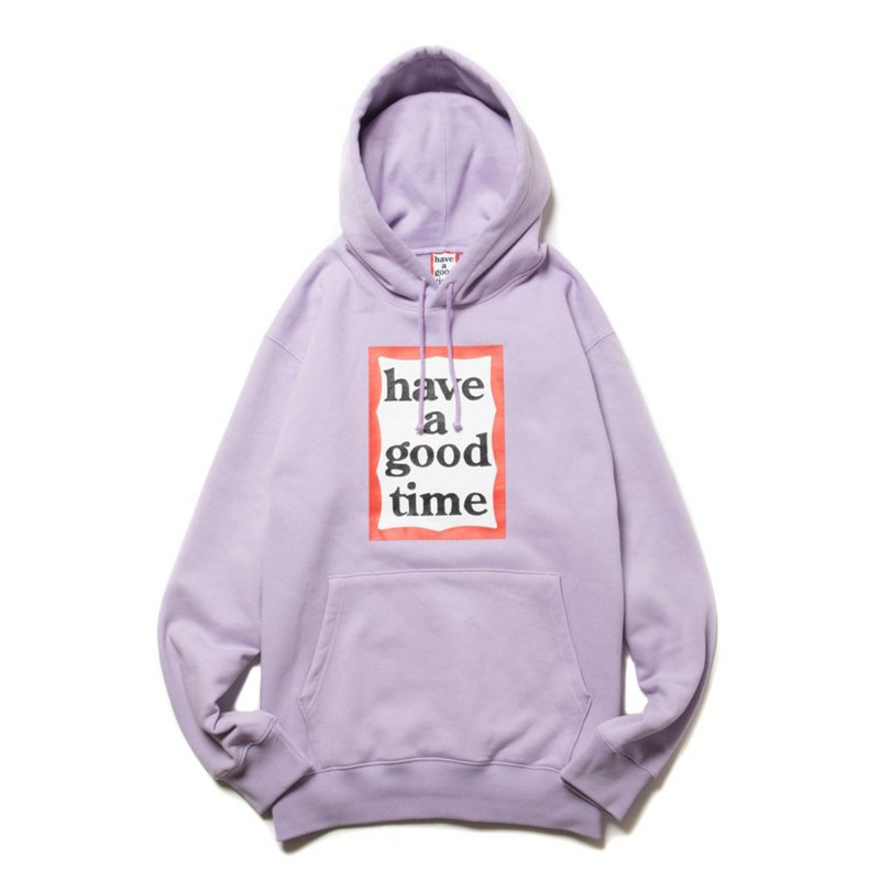 (have a good time) FRAME PULLOVER HOODIE - LILAC