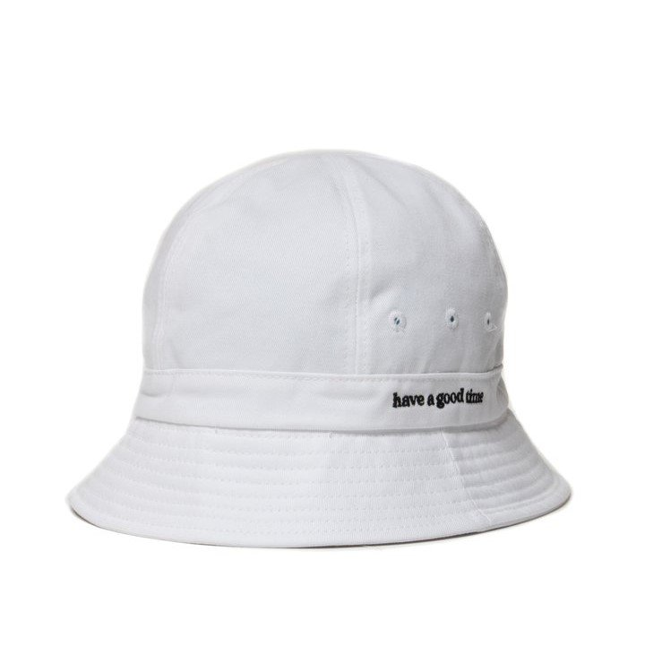 (have a good time) SIDE LOGO BUCKET HAT - WHITE