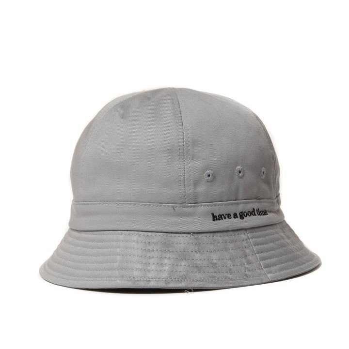 (have a good time) SIDE LOGO BUCKET HAT - GRAY
