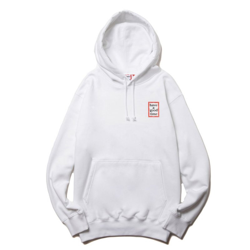 (have a good time) MINI FRAME PULLOVER HOODIE - WHITE