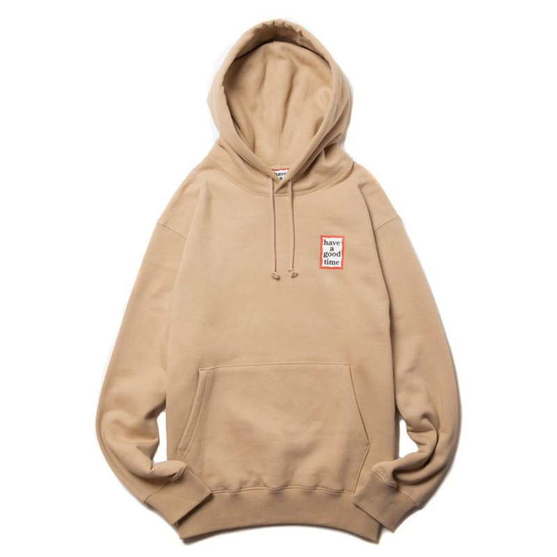 (have a good time) MINI FRAME PULLOVER HOODIE - TAN