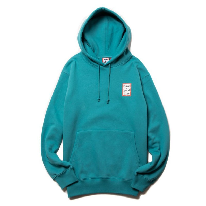 (have a good time) MINI FRAME PULLOVER HOODIE - DARK CYAN