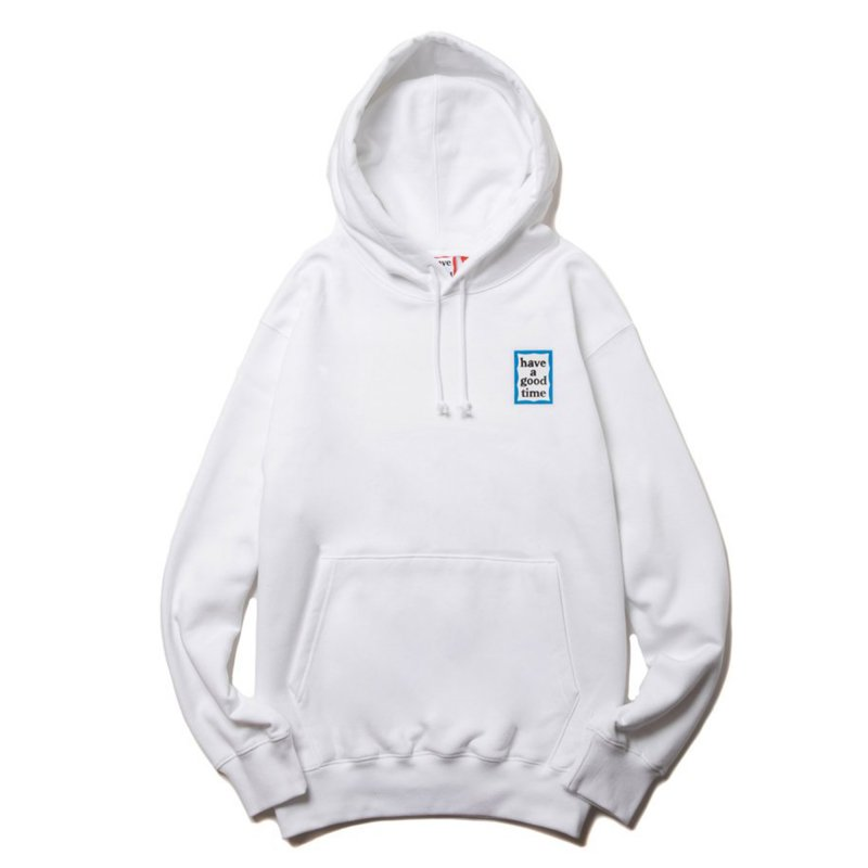 (have a good time) MINI BLUE FRAME PULLOVER HOODIE - WHITE