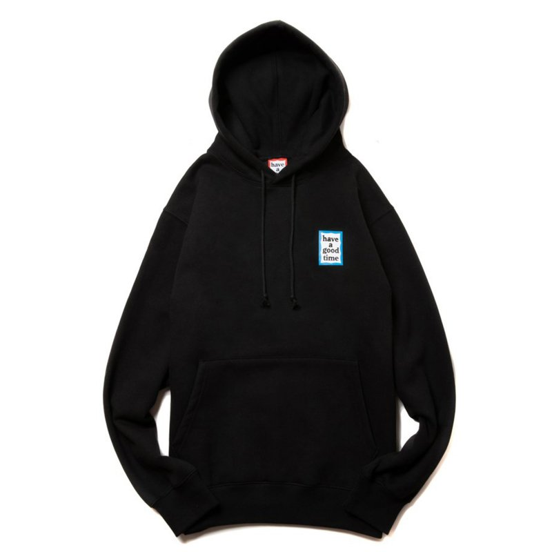 (have a good time) MINI BLUE FRAME PULLOVER HOODIE - BLACK