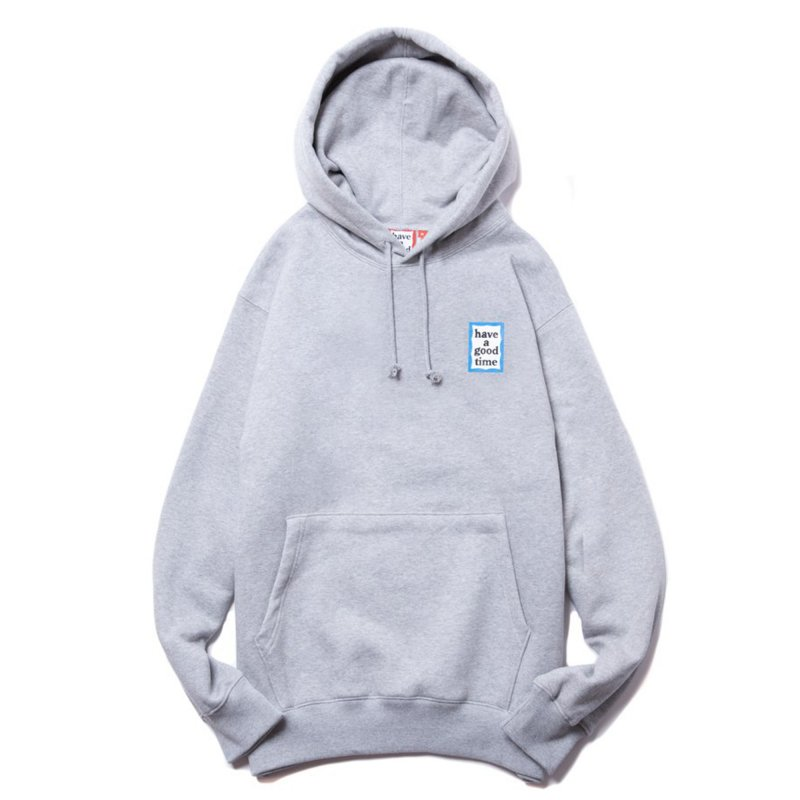 (have a good time) MINI BLUE FRAME PULLOVER HOODIE - HEATHER GRAY