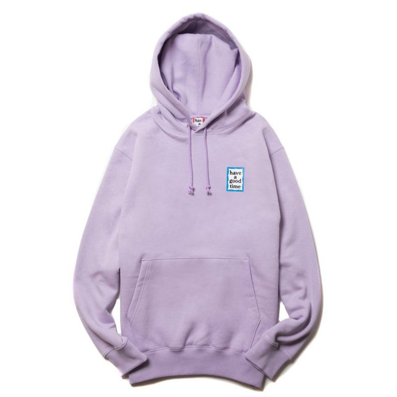 (have a good time) MINI BLUE FRAME PULLOVER HOODIE - LILAC