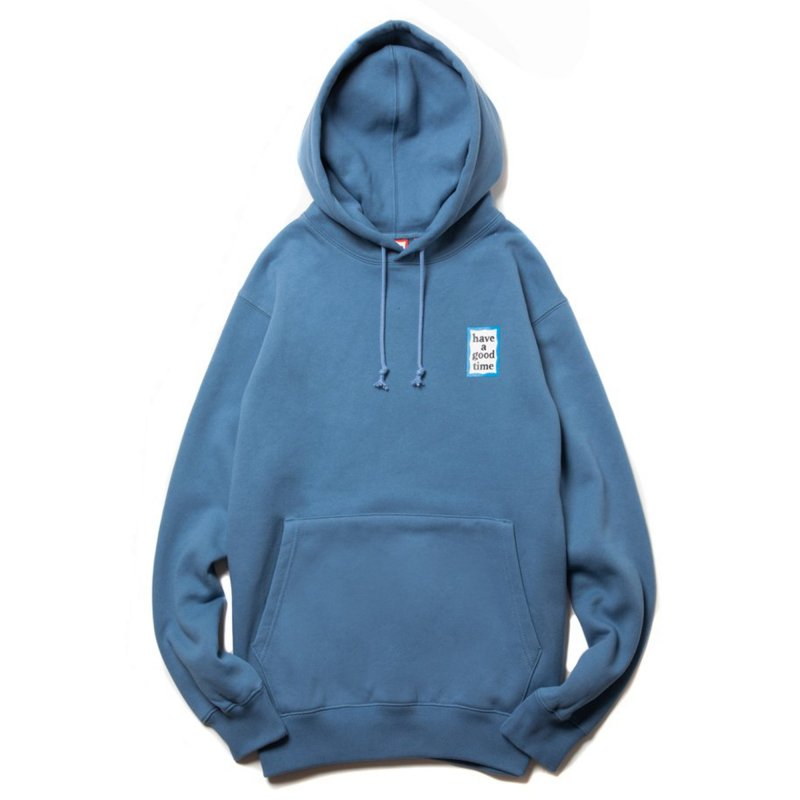 (have a good time) MINI BLUE FRAME PULLOVER HOODIE - STEEL BLUE