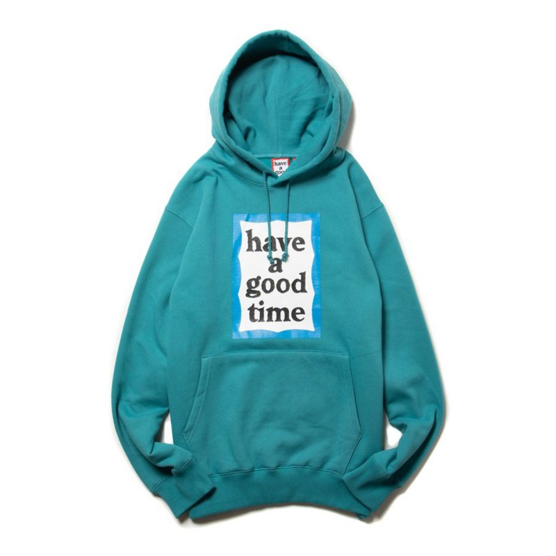(have a good time) BLUE FRAME PULLOVER HOODIE - DARK CYAN