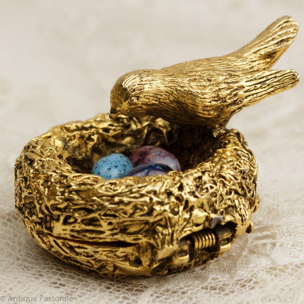 ヴィンテージ マックスファクター 小鳥の巣と玉子の練香水入れ 1960's - 70's その3