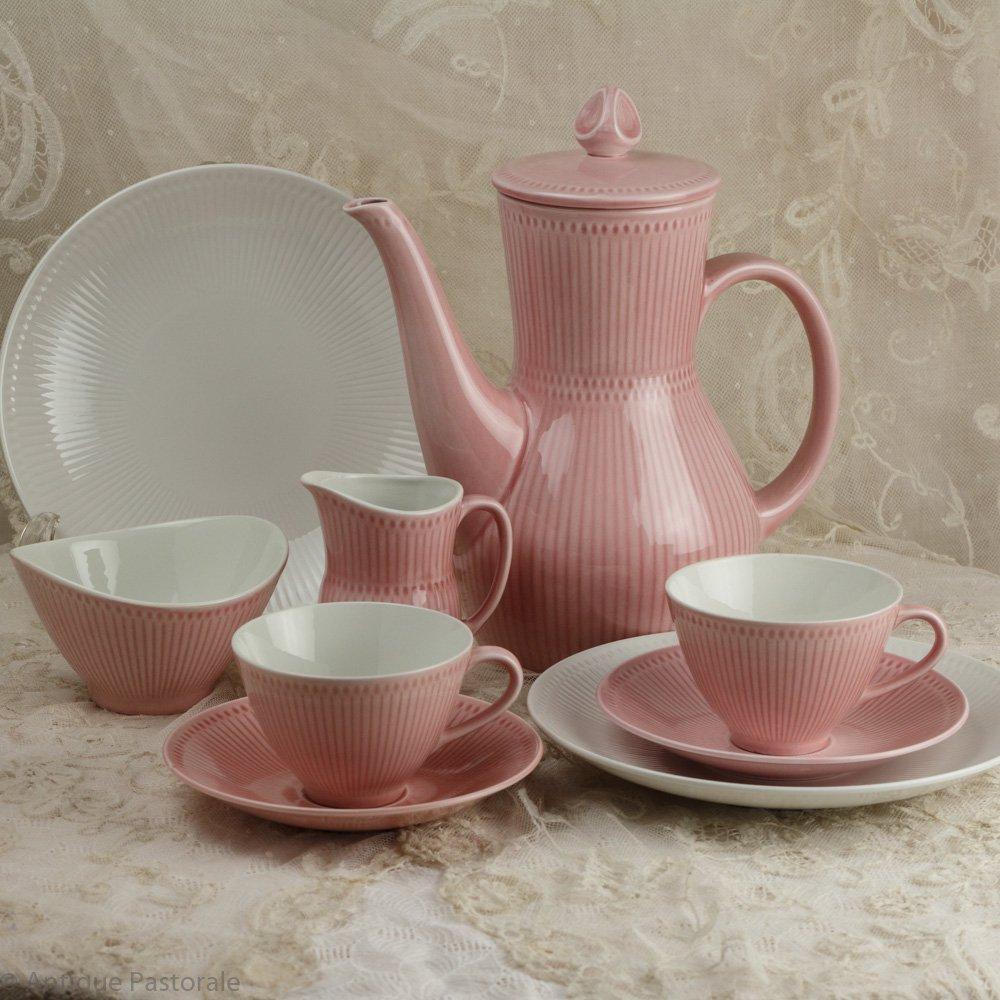 ヴィンテージ ロールストランド  ロスマリン ピンク Tea for two ティー・コーヒーセット 1949〜1970