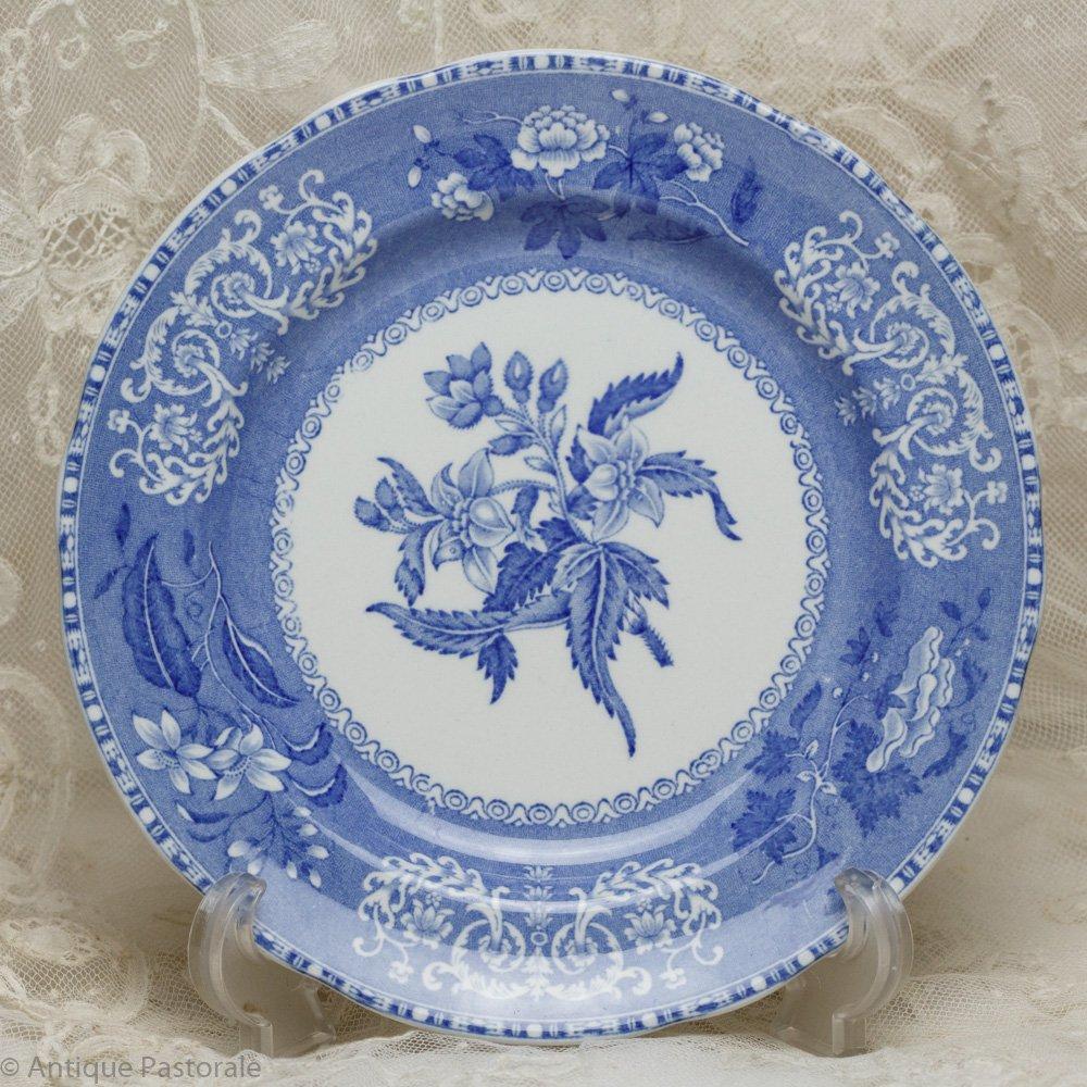 OLDマーク スポード カミラ ブルー&ホワイト サラダ皿 エクセレントコンディション 1950年代