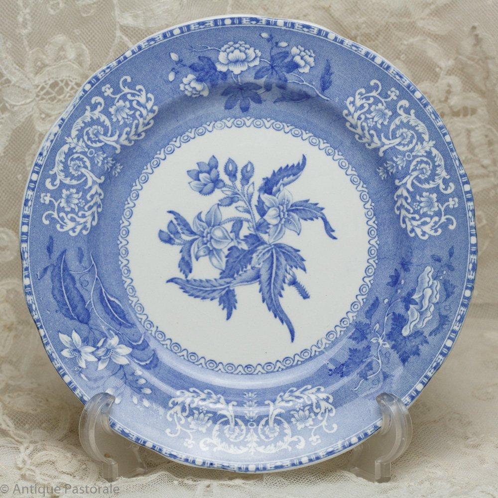 OLDマーク スポード カミラ ブルー&ホワイト サラダ皿 貫入あり 1955年