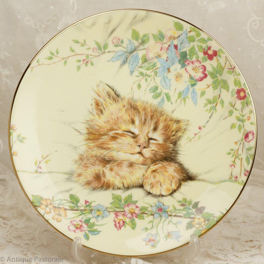 ロイヤルウースター CatNap ねこの昼寝 かわいらしい飾り皿