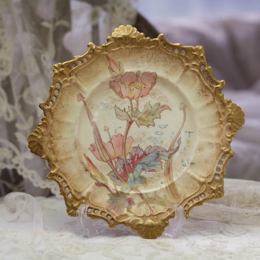 ロイヤル ドルトン バーズレム アールヌーヴォー 飾り皿 「ポピー」