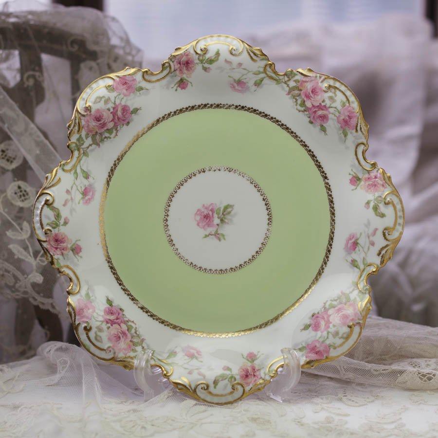 Limoges G.D.A  リモージュ ジェーデーアー 薔薇の大皿 1900〜1941年頃