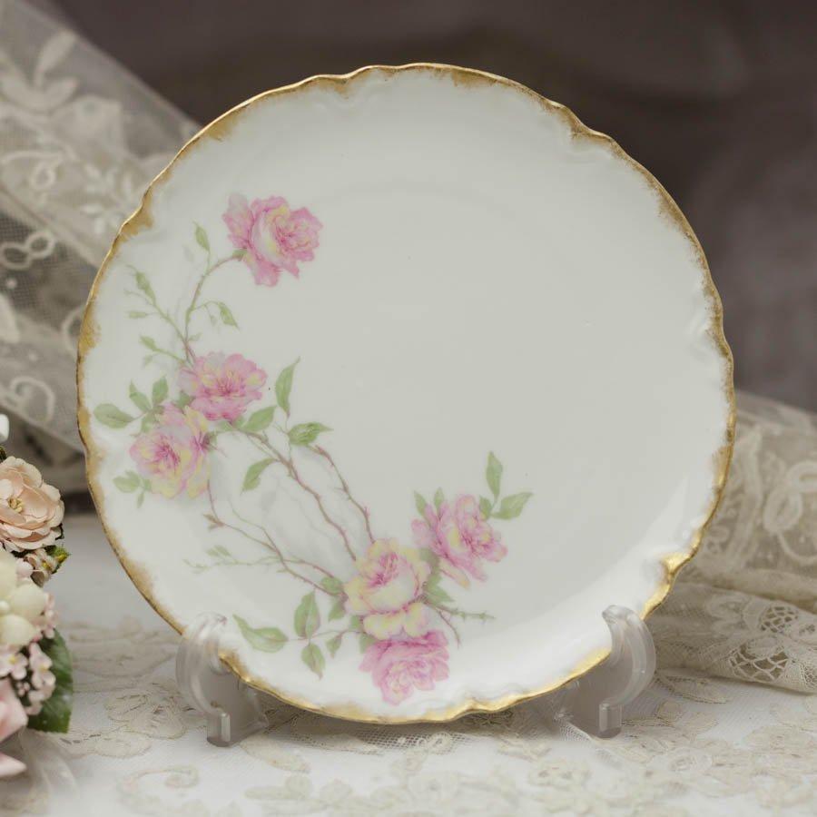Limoges Haviland  リモージュ アビランド  ピンクの薔薇 ケーキプレート1894〜1931年