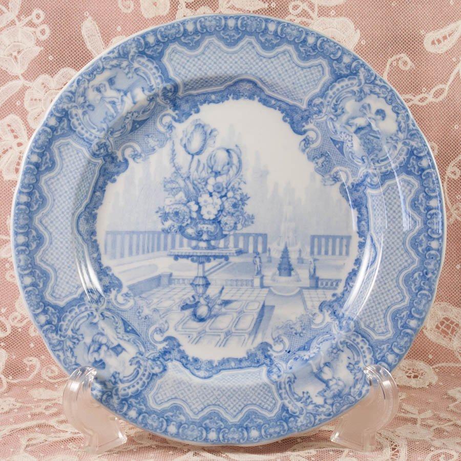 コープランド スポード SEASONS ブルー&ホワイト ブルー&ホワイト ランチ皿