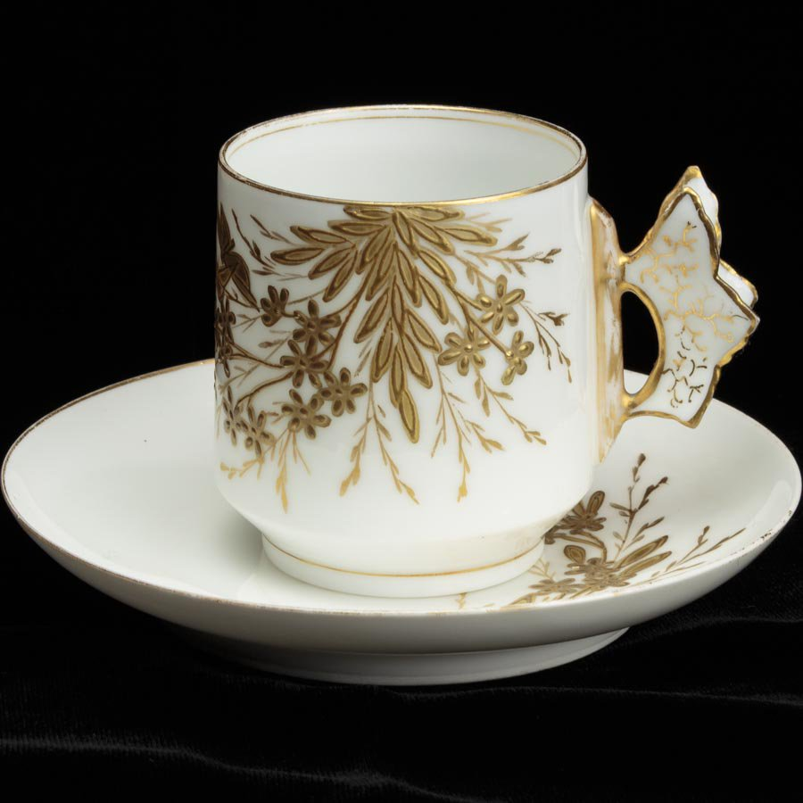 Limoges Charles Field Haviland アビランド リモージュ 蝶々ハンドルのカップ&ソーサー デミタス