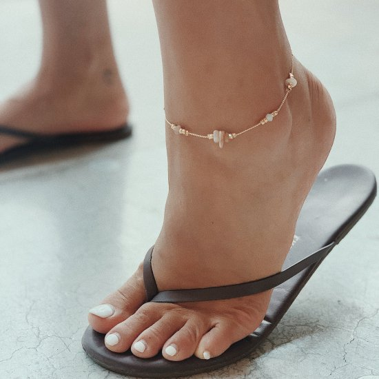 〈A-2 〉Stone Anklet