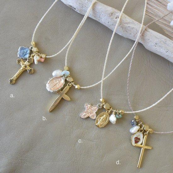 〈Medal&Cross Necklace a.〜d.〉