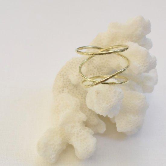 〈Cross ring 〉Brass