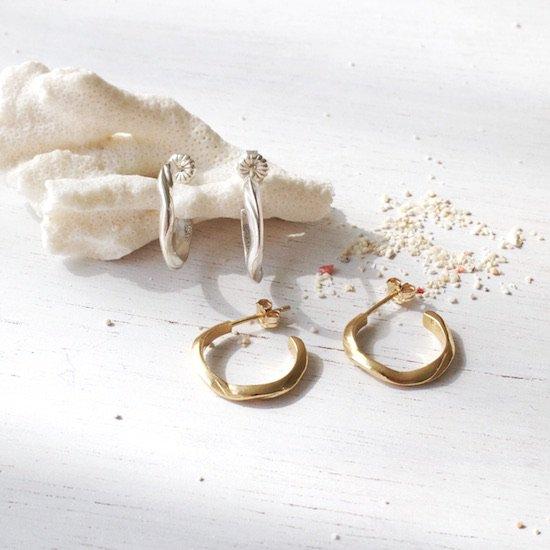 〈Open water〉Earrings Silver&Gold