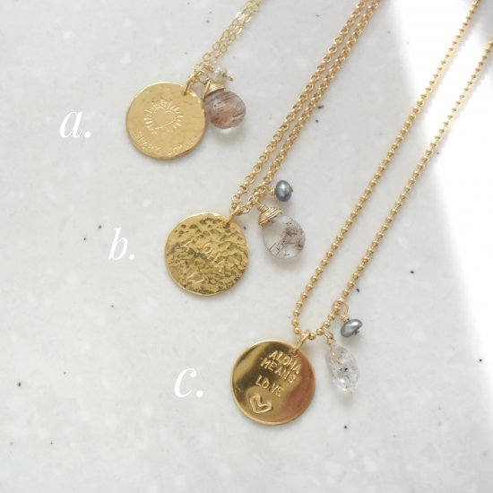 〈Show feelings coin necklace〉