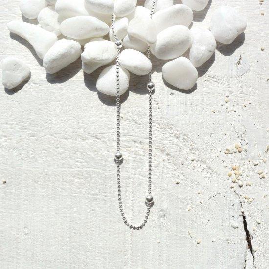 〈Silver Ball necklace 〉
