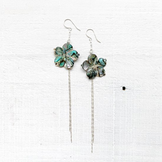 <img class='new_mark_img1' src='https://img.shop-pro.jp/img/new/icons57.gif' style='border:none;display:inline;margin:0px;padding:0px;width:auto;' />〈Silver Earrings〉Paua shell