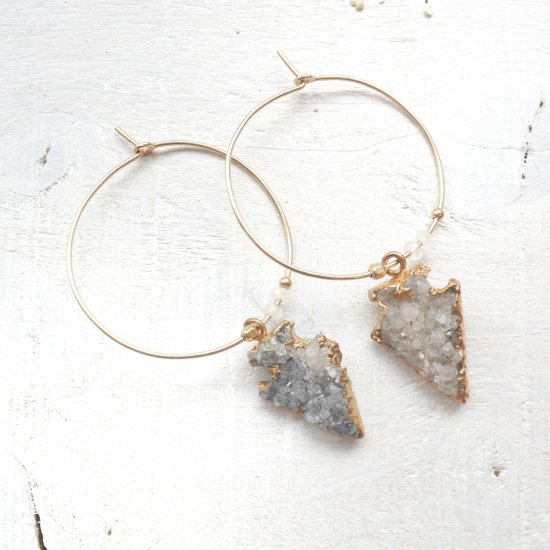 【SALE】Druzy quartz Hoop