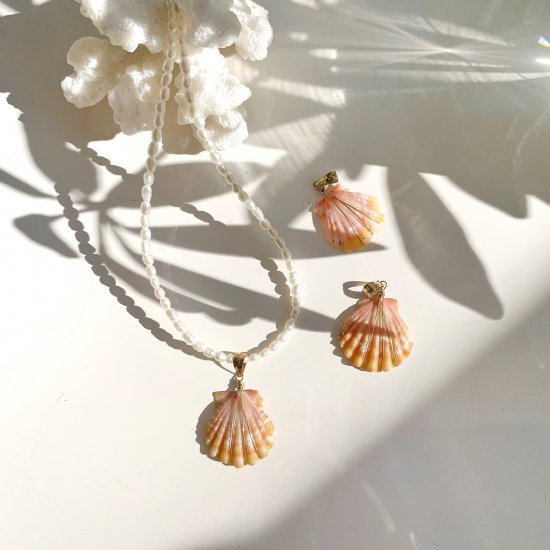 〈Sunrise shell〉Pearl necklace