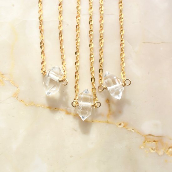 〈14KGF-N-Herkimer diamond〉