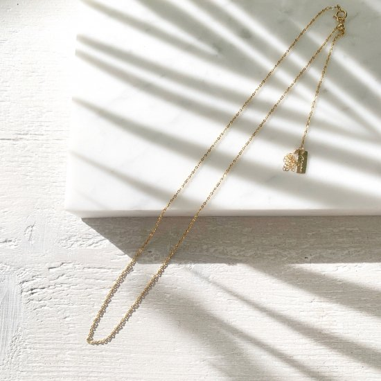 〈Gold filled skin necklace〉Shiny