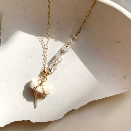 〈Shark tooth necklace〉Moonstone