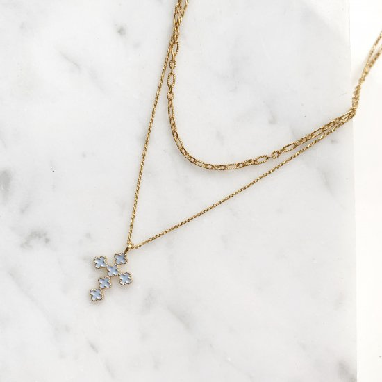 〈Import select charm necklace〉Cross
